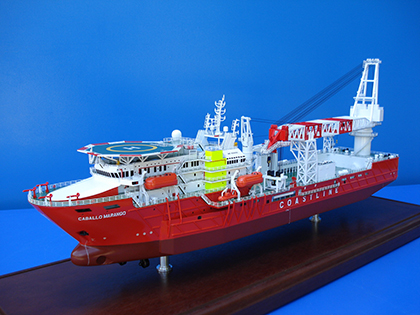 Diving Support ship model